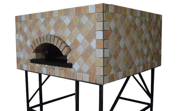 Four à pizza au feu de bois modèle carré