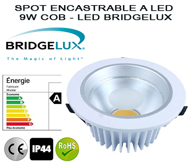 SPOT ENCASTRABLE A LED 9W-COB