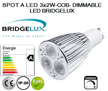 SPOT A LED 3X2W-COB DIMMABLE