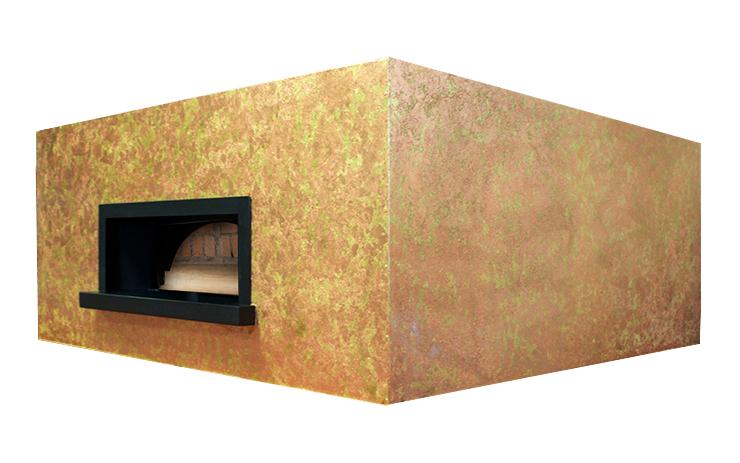 Four a pizza professionnel au feu de bois modèle carré