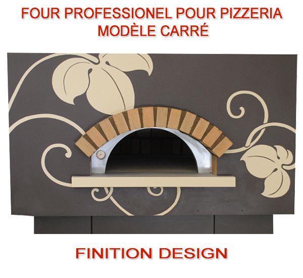 Four a pizza au bois et gaz model design