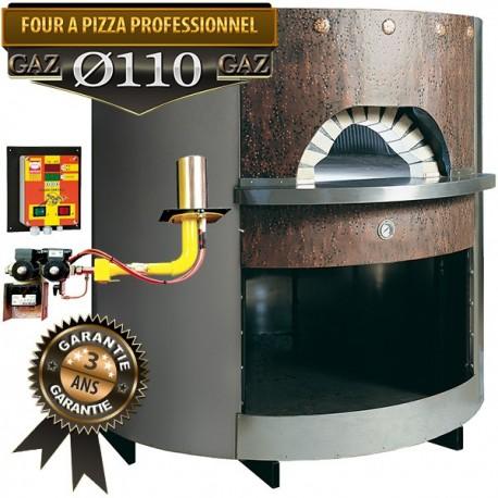 Four à pizza professionnel entièrement isoler avec habillage cuivre / inox