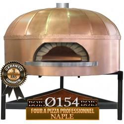 Four professionnel à pizza avec dôme en cuivre Ø154cm