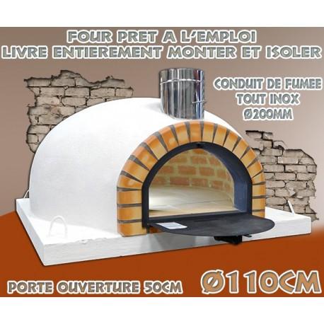 Four spécial pizza isoler et prêt à l'emploi diamètre intérieur Ø110cm