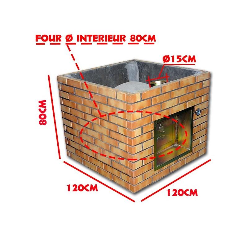 four pizza en brique r fractaire 80cm enti rement assembler. Black Bedroom Furniture Sets. Home Design Ideas