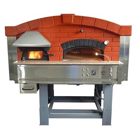 Four Pizza Rotatif 9 Pizzas 30cm Mix Bois Gaz