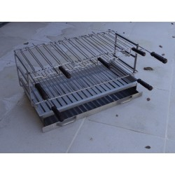 Foyer grill tout Inox pour barbecue largeur 80cm