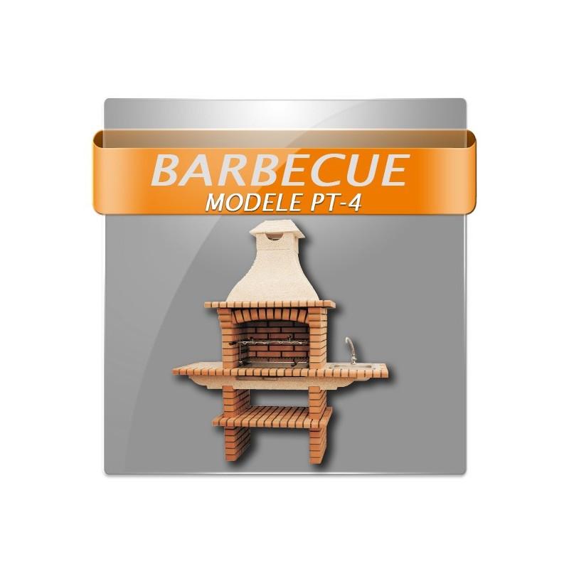Barbecue en brique rouge multifonction avec plan de for Barbecue en brique plan