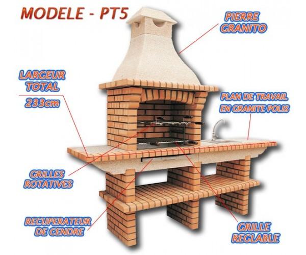 Construire un barbecue en briques for Barbecue en brique plan