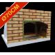 Four à pizza diamètre intérieur Ø70cm avec façade en brique