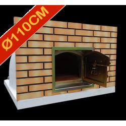 Four à pizza diamètre intérieur Ø110cm avec façade en brique
