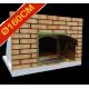 Four à pizza diamètre intérieur Ø160cm avec façade en brique