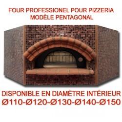 Four professionnel pentagonal au bois spécial pizzerias et restaurants