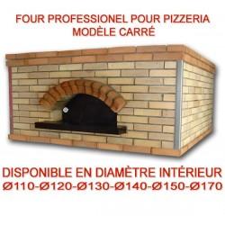 Four professionnel carré au bois ou gaz spécial pizzeria