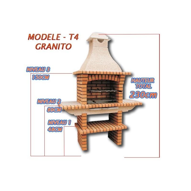 Barbecue en brique rouge multifonction avec plan de for Plan d un barbecue en brique