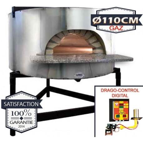 Four à pizza structure béton pour encastrement Ø110cm