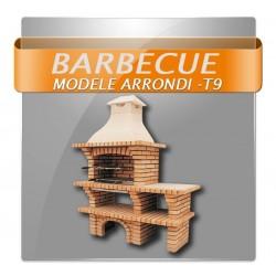 Barbecues en brique avec foyer acier, grilles rotatives et plan de travail en granite poli livraison gratuite chez jardistores