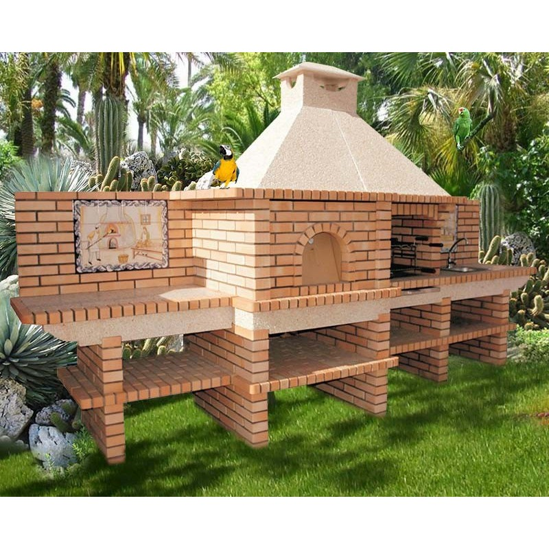 barbecue avec four a pain de diam tre 90cm. Black Bedroom Furniture Sets. Home Design Ideas