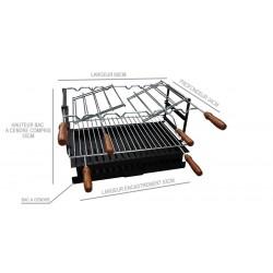Foyer pour barbecue en acier