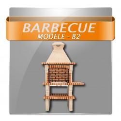 Barbecues en brique rouge avec foyer acier et grilles rotatives