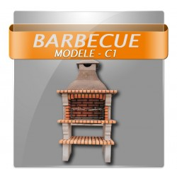 Barbecues foyer en brique rouge parrois beton