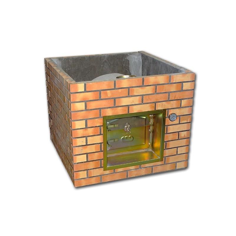 Four pizza en brique r fractaire 90cm enti rement assembler for Brique refractaire pour four a pain
