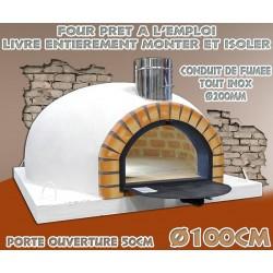Four spécial pizza isoler et prêt à l'emploi diamètre intérieur Ø100cm