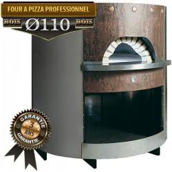 Four professionnel à pizza entièrement isoler avec habillage cuivre / inox