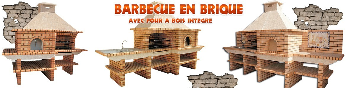 barbecue en brique et barbecues quip de four bois. Black Bedroom Furniture Sets. Home Design Ideas