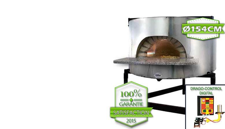 Four à pizza professionnel structure béton diamètre intérieur 1540mm